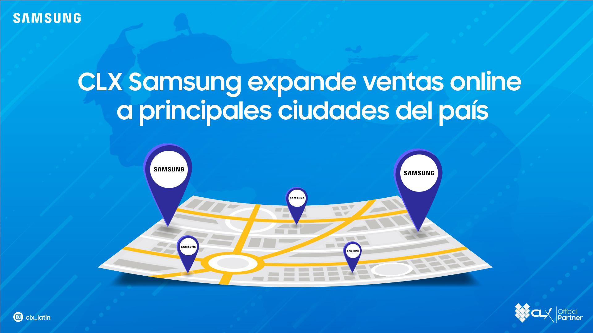 CLX Samsung expande ventas online - clx